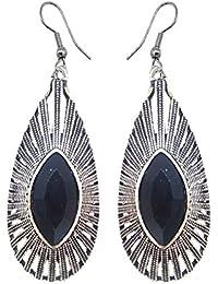 SKN Multicolour Party Fashion Dangle & Drop Antique Oxidised Earrings For Women & Girls (SKN-4061)