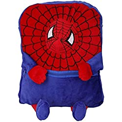 Gifts Online Spman Soft Material School Bag For Kids - Blue & Red