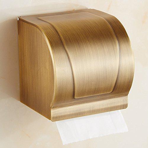 luckyNO.1 Taschentuchbox Antike Handtuchhalter Doppelschicht Kupfer Kombinationspaket Vintage Handtuchhalter Hängen Handtuch Set Gerät Frame Wandbehang, (Keine Notwendigkeit Zu Lochen)