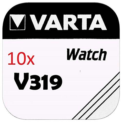 VARTA KNOPFZELLEN 319 SR527SW (10 Stück, V319) - Uhrenbatterie 319