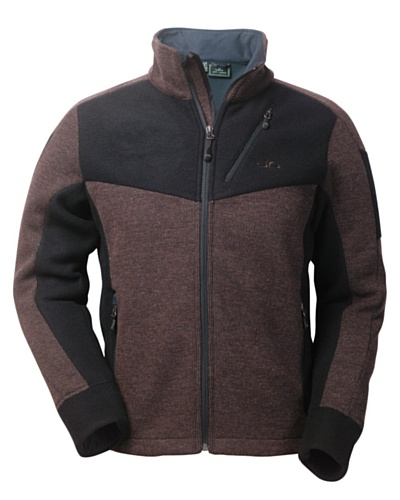Jeff Green Herren Strick Fleece Jacke Galway - Braun (Chocolate), 48