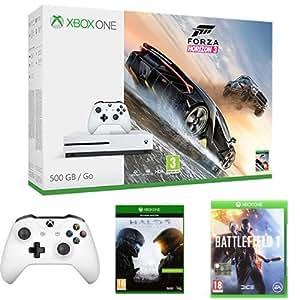 Xbox One S 500GB + Forza Horizon 3 + Controller + Halo 5 + Battlefield I