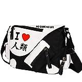 Siawasey Japanische Anime Cosplay Handtasche Rucksack Messenger Bag Umhängetasche, No Game No Life