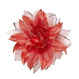 WIDMANN?Pasador Pelo Flor con purpurina Womens, rojo, talla única, vd-wdm04125