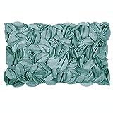 Pad - Kissenhülle - Kissenbezug - Zierkisssen - Dorothy - Applikationen - Turquoise/türkis - 30 x 50 cm