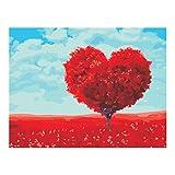 Baoblaze Diy Kunstdruck Wandbild, Malen nach Zahlen, Muster Auwählbar - Herz