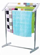 INOVERA (LABEL) Mobile Towel Nappies Cloth Holder Hanger Rack, Grey