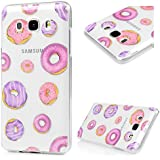YOKIRIN Samsung Galaxy J5 2016 Funda TPU+IMD Carcasa Silicona Gel Transparente Cristal Suave Cáscara Cover Case Ultra Slim Thin