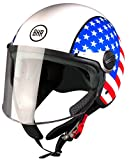 BHR Helm 710 Demi Jet Casco, USA Flag, 55/56