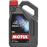 Motul 4000 Motion Plus 15W40 API CH4/ SL Mineral Engine Oil for Diesel and Petrol Cars (4 L)
