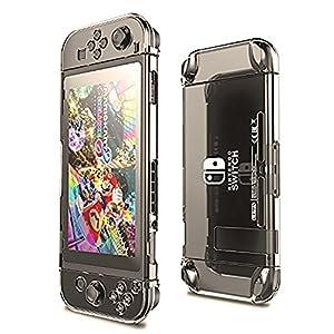 subtel Hard Cover kompatibel mit Nintendo Switch – Kunststoff, Transparent Tasche Case Schutzhülle
