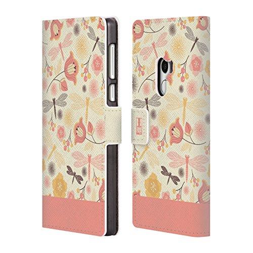 Head Case Designs Zitrone Chiffon Libellen Brieftasche Handyhülle aus Leder für Xiaomi Mi Mix (Chiffon-mix)