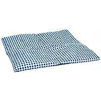 Dinkelkissen 40x40cm 4-Kammer groß blau-weiß /Wärmekissen Körnerkissen preisvergleich bei billige-tabletten.eu