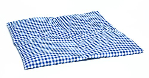 Kirschkernkissen 40x40cm 4-Kammer groß blau-weiß /Wärmekissen / Körnerkissen