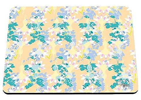 hippowarehouse Floral Pfau Muster bedruckt Mauspad Zubehör Schwarz Gummi Boden 240mm x 190mm x 60mm, Purple and Teal, Einheitsgröße