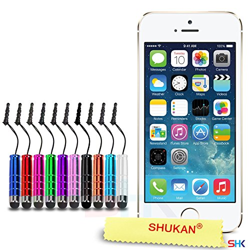 "Apple iPhone 6 / 6S Plus (5.5"" Inch) Pack 1, 2, 3, 5, 10 Protecteur d'écran & Chiffon SVL0 PAR SHUKAN®, (PACK 10) Petit Stylus 10"