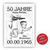 Geburtstagsurkunde Urkunde zum Geburtstag Storch 18 20 30 40 50 60