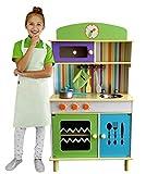 Best For Kids Kinderküche Spielküche aus Holz GRÜN - Chefküche green Top Qualität W10C026
