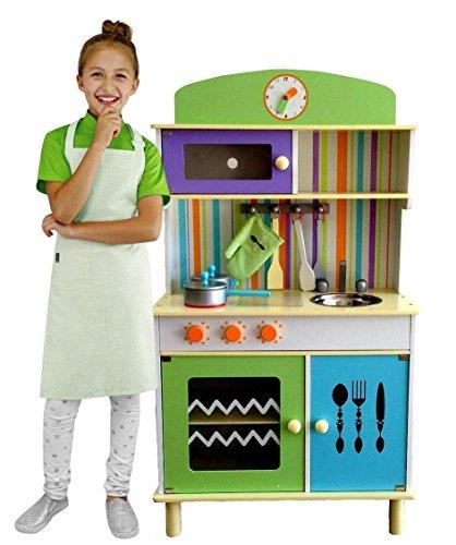 küche Spielküche aus Holz GRÜN - Chefküche green Top Qualität W10C026 ()