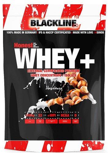 BlackLine 2.0 Honest Whey+ Whey 12,5% Isolate Premium Protein Eiweiß Proteinshakes Eiweißshakes 1000g (Haselnuss)
