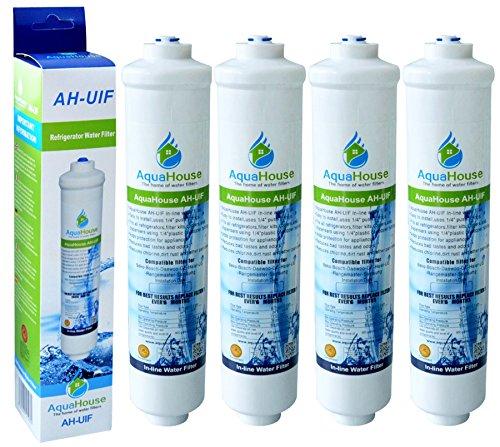 4x Aquahouse UIFS kompatibel Kühlschrank Wasserfilter für Samsung DA29-10105J HAFEX  EXP WSF-100 Aqua-Pure Plus (nur externer Filter)