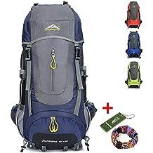 Ticktock Ong 70L Travel Rucksack Large Wandern Bergsteigen Ruck Sack Wasser Resistang Gepäcktasche für Outdoor Reisen Klettern Camping