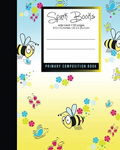 Primary Composition Book: Bee: Kids School Exercise Book [ Times Tables * Wide Ruled * Large Notebook ... ] (Primary Composition Books: Kids 'n' Teens)
