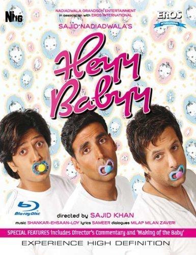 Heyy Babyy [Blu Ray] (Akshay Kumar/ Comedy / Bollywood Movie / Indian Cinema DVD by Akshay Kumar
