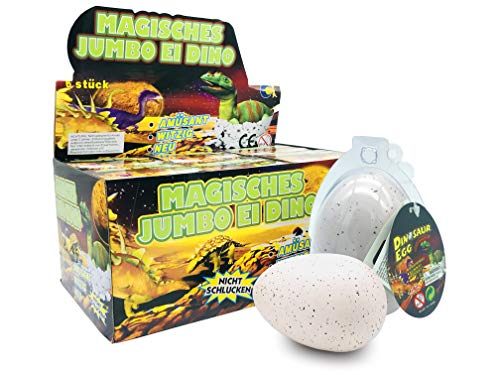 Magische Mischung (JustRean Toys XXL Dino Schlüpf Ei 11cm in transparenter Kunststoffhülle - Magic Growing Egg Jumbo Dinosaurier Schlüpfei)