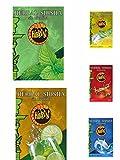 5pezzi x 50g gusto assortimento hibron Erba per narghilè Shisha Senza Nicotina Kit 5menta, limon-menta, Cola, Mojito, Bevanda Energetica.