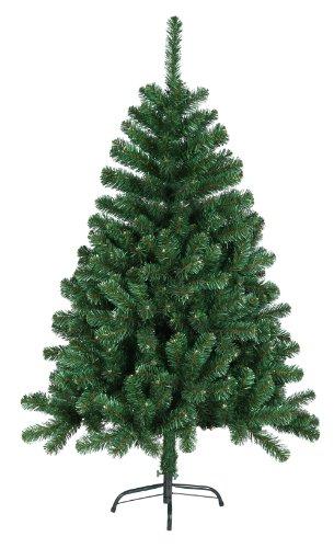 120 cm 360 Spitzen künstlicher Weihnachtsbaum Tannenbaum Christbaum in grün inkl. Metallfuß Christbaumständer