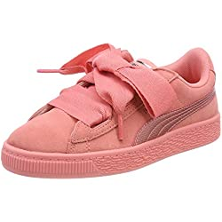 Puma Suede Heart SNK PS, Sneakers Basses Fille, Rose Shell Pink, 31 EU