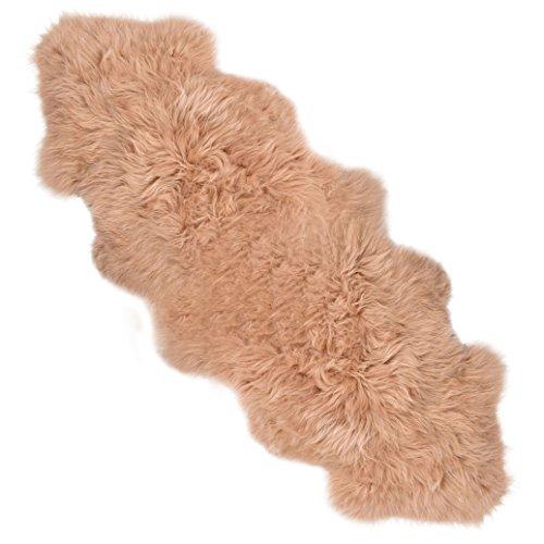 Verbergen Sahne (Lambland Handbearbeitet Qualität britischen Schaffell Teppich in in Warmes Beige - Größe 2 verbergen)
