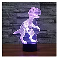 lunaoo 3D Night Light for Kids Boys Toys, 3D Illusion Lamp for Bedroom Beside Table Decoration, 7 Colour Changing LED Mood Lamp Children Gift