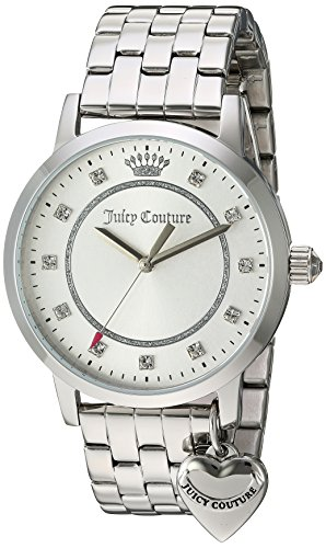 Juicy Couture Damen analog Quarz Uhr mit Edelstahl Armband 1901474 (Juicy Couture Damen-uhren)
