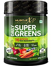 MuscleXP Daily Super Greens with 16 Nutrition Rich Super Fo