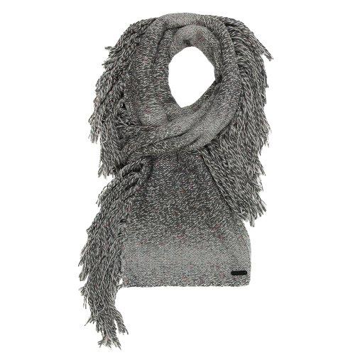 Bench Damen Mütze, Schal & Handschuh-Set Strickschal Larrson Scarf grau (Raven) One Size