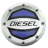 #10: Kalaram Reflective Blue Diesel Inside Decal Car Fuel Cap Sticker for Ford (Sticker Size: 10cm X 10cm) (Color: Blue; Black) (Pack of 1)