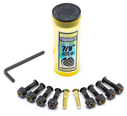 Thunder Trucks Skateboard Hardware–schwarz/gold Inbus Schrauben–7/8