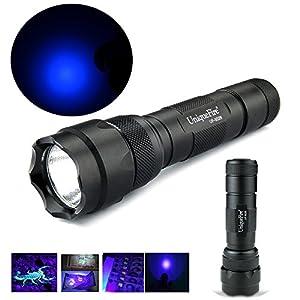 UniqueFire High Power Black UF502B UV Tactical Flashlight 365nm Ultraviolet Light Torch Lamp