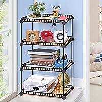 5-Cube DIY Wire Grid Bookcase, Multi-Uso Modular Storage Shelving Rack, Organizador Abierto Closet Cabinet para Libros, Juguetes, Ropa, Herramientas, Capacidad máxima 20 kg por Cubo, Negro