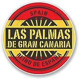 2 x 10cm/100 mm Las Palmas de Gran Canaria Etiqueta autoadhesiva de vinilo adhesivo portátil de viaje equipaje signo coche divertido #6733