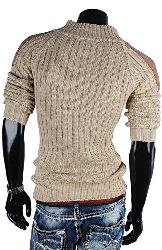 Tazzio pull-over pour homme en tricot pull sweat veste en tricot Gris - Stein