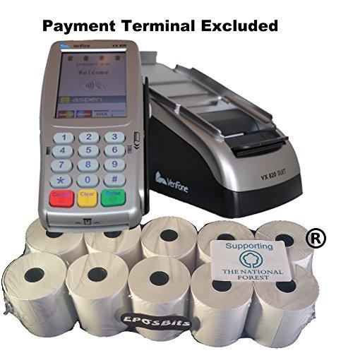 EPOSBITS® Markenrollen für Verifone VX-820 Duet VX820 Kreditkarten-Terminal, 10 Rollen (Duet-Versionen)