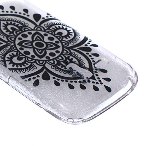 Voguecase® Pour Apple iphone 4 4G 4S, Ultra-minces TPU Silicone Shell Housse Coque Étui Case Cover (arrière)+ Gratuit stylet l'écran aléatoire universelle creuse 08/noir