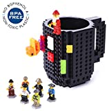 Build-On Brick Mug Creative DIY Coffee Cup Building Blocks Tea Beverage Drinking Funny Gift For Kids & Adults