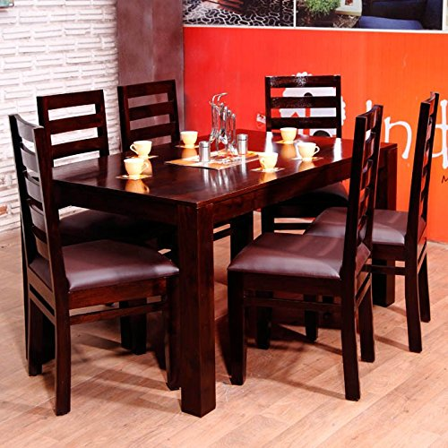 INDUSCRAFT CONTEMPORARY DINING TABLE 6 SEATER SET  available at amazon for Rs.28999