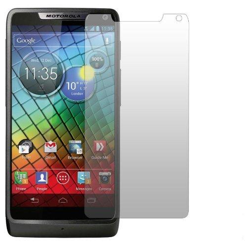 2 x Slabo Bildschirmschutzfolie Motorola RAZR i Bildschirmschutz Schutzfolie Folie