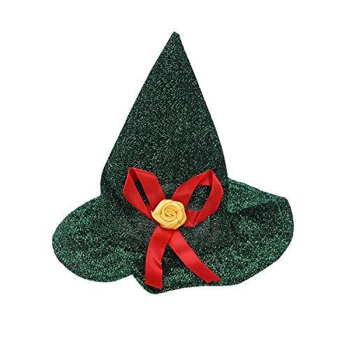 Amosfun Hund Katze Stirnband Halloween Haustier Hut mit Blume Cute Halloween Christmas Party Hat (Dark Green)