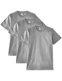 Fruit of the Loom Heavy Cotton Tee Shirt 3 pack - T-shirt - coupe droite - Col rond - Manches courtes - Homme